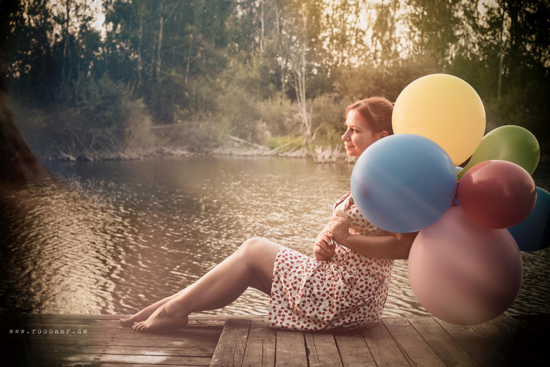 Portrait mit Ballons Leipzig