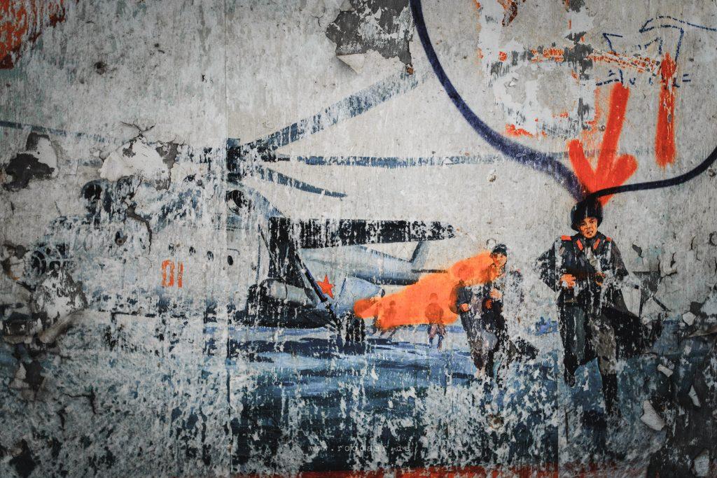 Fliegerhorst Polenz: Reste alter Wandmalerei