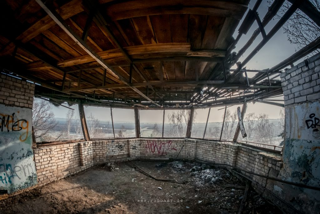 Fliegerhorst Polenz Brandis: Blick aus dem denkmalgeschütztem Tower
